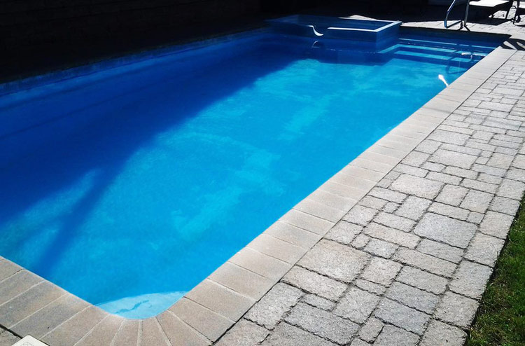polyFIBRO® Pacific Blue Poolbeschichtung